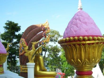 Tempelornamente - Weisser Buddha