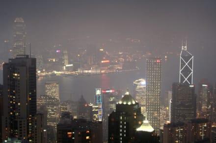 Blick vom Peak auf Kowloon - Victoria Peak