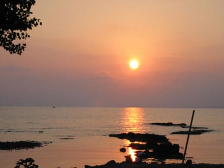 Sonnenuntergang im Hafen von Side - Hafen Side