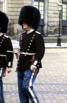 Königliche Garde beim Wachwechsel - Schloß Amalienborg