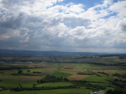 Die schöne Aussicht vom Turm aus. - Burg Gleiberg