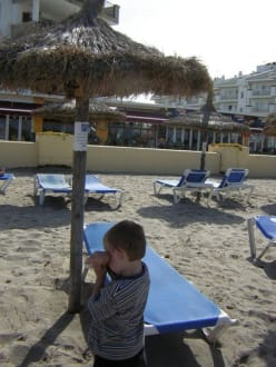 Rollstuhl Sonnenschrim Gratis mit Liege - Strand Can Picafort