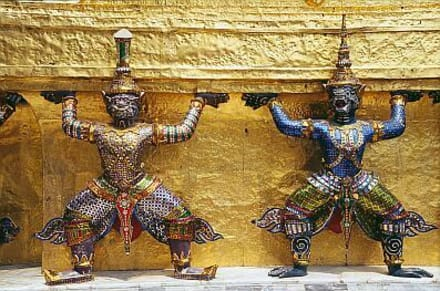 Bangkok - Wat Phra Kaeo - Wat Phra Keo und Königspalast / Grand Palace