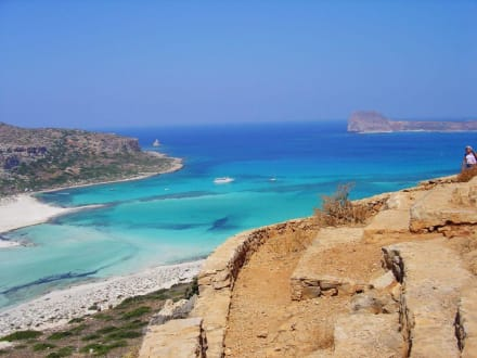 Abstieg zum Traumstrand Balos - Strand Gramvoussa