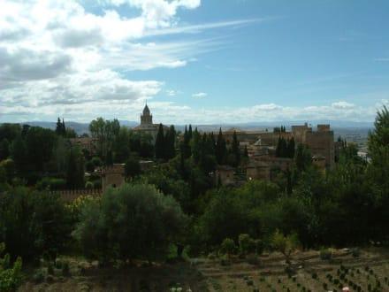 Die Alhmabra vom Generalife aus gesehen - Alhambra