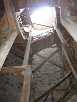Das Innere vom Turm. - Burg Münzenberg