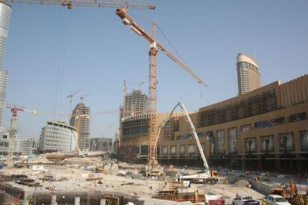 Baustelle rund um den Burj - Burj Khalifa