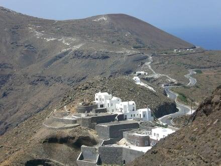 Auf dem Weg nach Oia - Kraterwanderung Thira