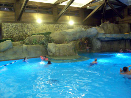Schwimmbad bild hotel disney 39 s sequoia lodge in marne la for Piscine sequoia lodge