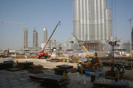 Baustelle Burj Dubai - Burj Khalifa