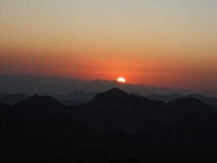 Sonnenaufgang am Mosesberg - Mosesberg (Gebel Musa) / Berg Sinai