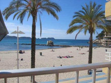 Der Hauptstrand in März - Strand Paguera/Peguera