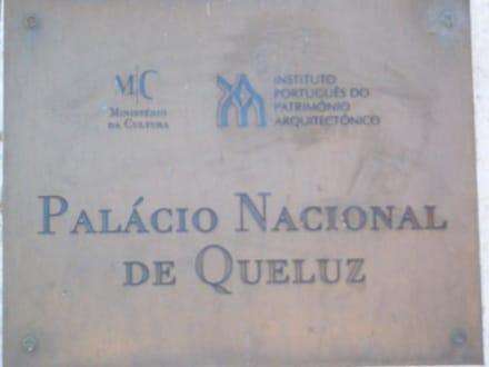 Der Eingang zum Schloss - Palácio Nacional de Queluz