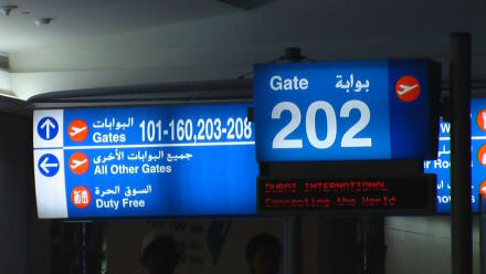 Abflug Gate 202 - Flughafen Dubai (DXB)