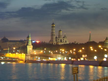 Moskau Kreml bei Nacht - Kreml / Präsidentenpalast