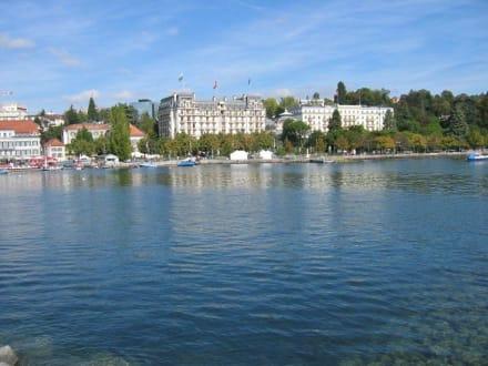 Blick vom Hafen auf den Genfer See - Genfersee