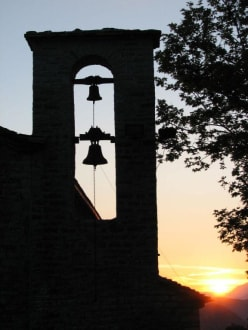 Sonnenuntergang in Vikos - Vikos Kapelle