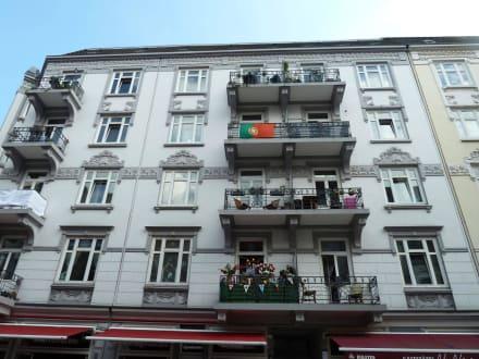Schöne Fassaden aus der Gründerzeit - Portugiesisches Viertel