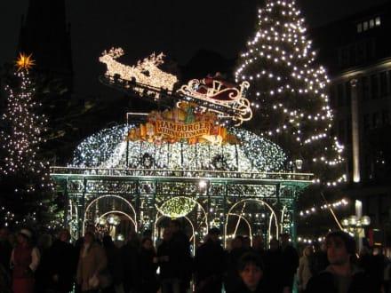Weihnachtsmarkt am Rathaus - Historischer Weihnachtsmarkt Rathausmarkt Hamburg