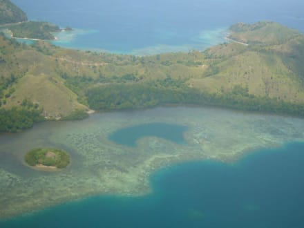 """Blick von """"oben"""" auf Flores - Nationalpark Komodo"""