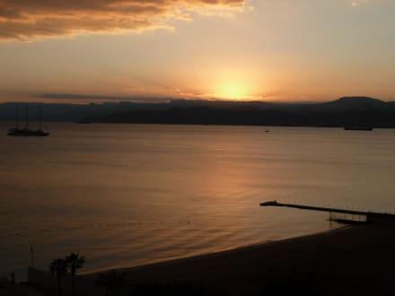 Sonnenuntergang-Blick vom Zimmer - Kempinski Hotel Aqaba
