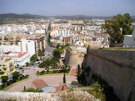Aussicht von der Burg in Ibiza Stadt - Altstadt Dalt Vila Ibiza
