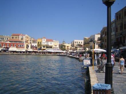 Blick auf die Hafenpromenade von Chania - Hafen Chania