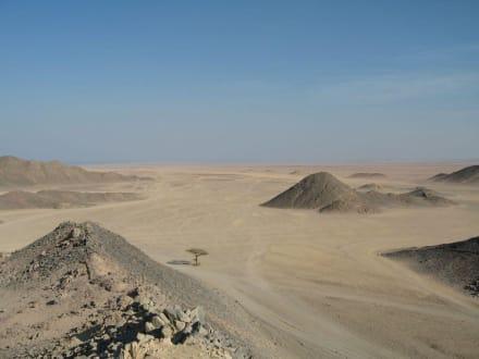 Aussicht von einer Anhöhe - Wüstentour Hurghada