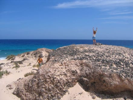 Dünenlandschaft bzw. Strand vor Corralajo - Naturpark Dünen von Corralejo