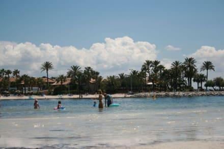 Beach infront of hotel -