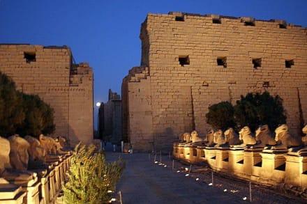 Karnak bei Nacht - Amonstempel Karnak