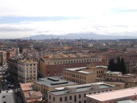 Stadtansicht von Rom - Vatikanische Museen