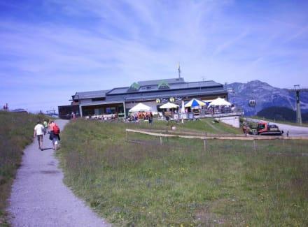 Seitenansicht der Station - Spieljoch Bahn
