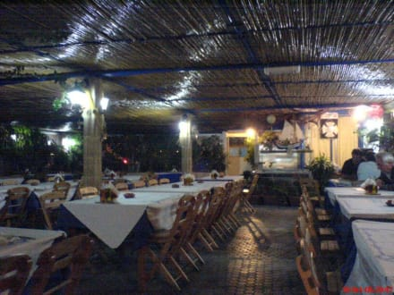 Blick ins Restaurant Limanaki in Kolymbia - Taverne Limanaki