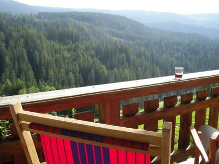 Blick vom Balkon - Kräuterhotel Zischghof