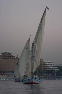 Ansichten währen der Nilfahrt - Felukenfahrt auf dem Nil
