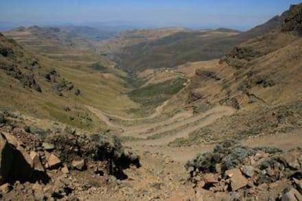 Blick vom Sani Pass - Sani Pass