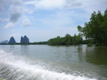 Auf dem Weg zu James Bond Island - Khao Phing Kan - James Bond Felsen