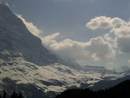 Blick vom Bort auf die Kleine Scheidegg - Kleine Scheidegg