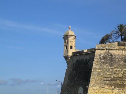 Valletta - Gardjola Gardens mit Vedette