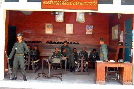 Wache in der Anlage - Wat Pho