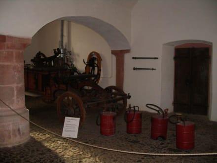Deko im Innenhof - Schloss Weilburg