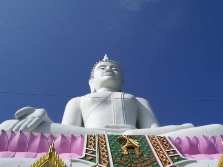 Enorm Gross - Weisser Buddha