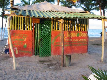 Palmenhütte an der Playa el Agua - Strand Playa el Agua