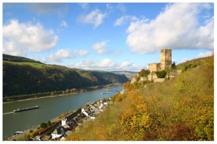 Kaub am Rhein mit Burg Gutenfels - Burg Gutenfels