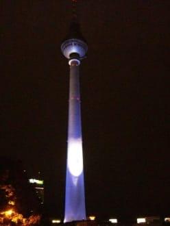 Fernsehturm bein Nacht - Berliner Fernsehturm