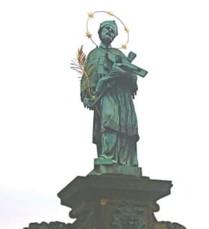 Der heilige Nepomuk. - Karlsbrücke