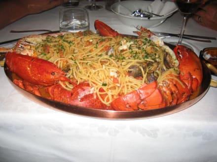 Hummerspaghetti - Restaurant Tortuga