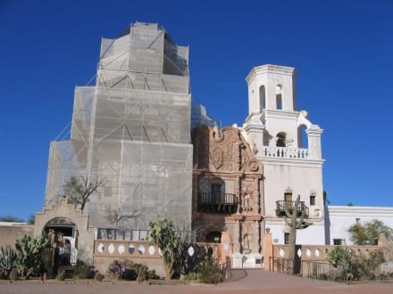 San Xavier del Bac Missionskirche bei Tucson - San Xavier del Bac Mission