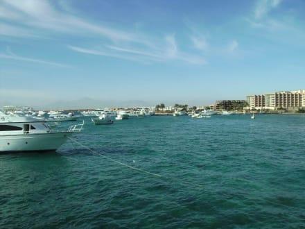 Hurghada  im Hintergrund - Ausflug nach El Gouna